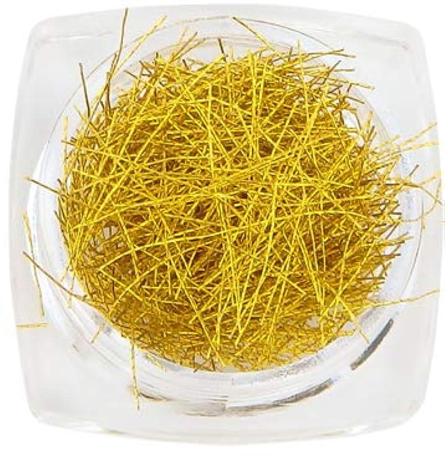 言い換えるとテクニカル露出度の高いジェルネイル 糸ネイル グリッターヤーン Glitter Yarn #2 (01 ゴールド)