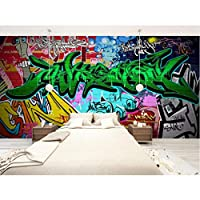 Hershop カスタムサイズ3D写真壁画ウォールステッカーファッション落書きリムーバブルウォールペーパービニールアート家の装飾-250X175CM
