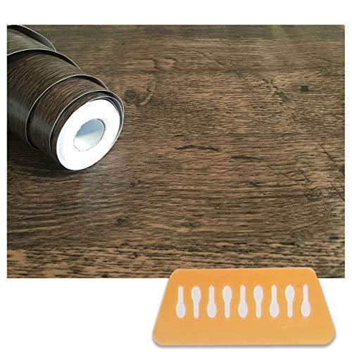 RoomClip商品情報 - 「RELIVE」壁紙シール 簡単 模様替え おしゃれ 木目 DIY【45cm× 10m】 (アンティークブラウン)
