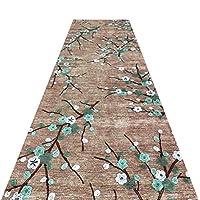 WUFENG 廊下敷きカーペッ 現代の ナチュラル 花柄 切ることができます 滑り止め カーペット 廊下 通路、 複数のサイズ カスタマイズ可能 (色 : A, サイズ さいず : 0.6x6m)