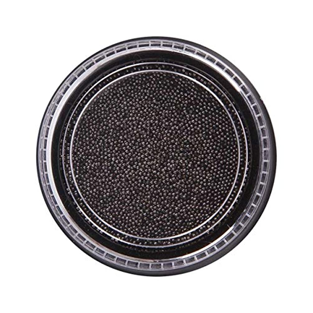 有彩色のうがいちっちゃいOU-Kunmlef 合理的な釘美しさ化粧ステンレス鋼ビーズ釘アート銀は、金キャビアDIY釘装飾を上げました(None Black Boxes-Black)