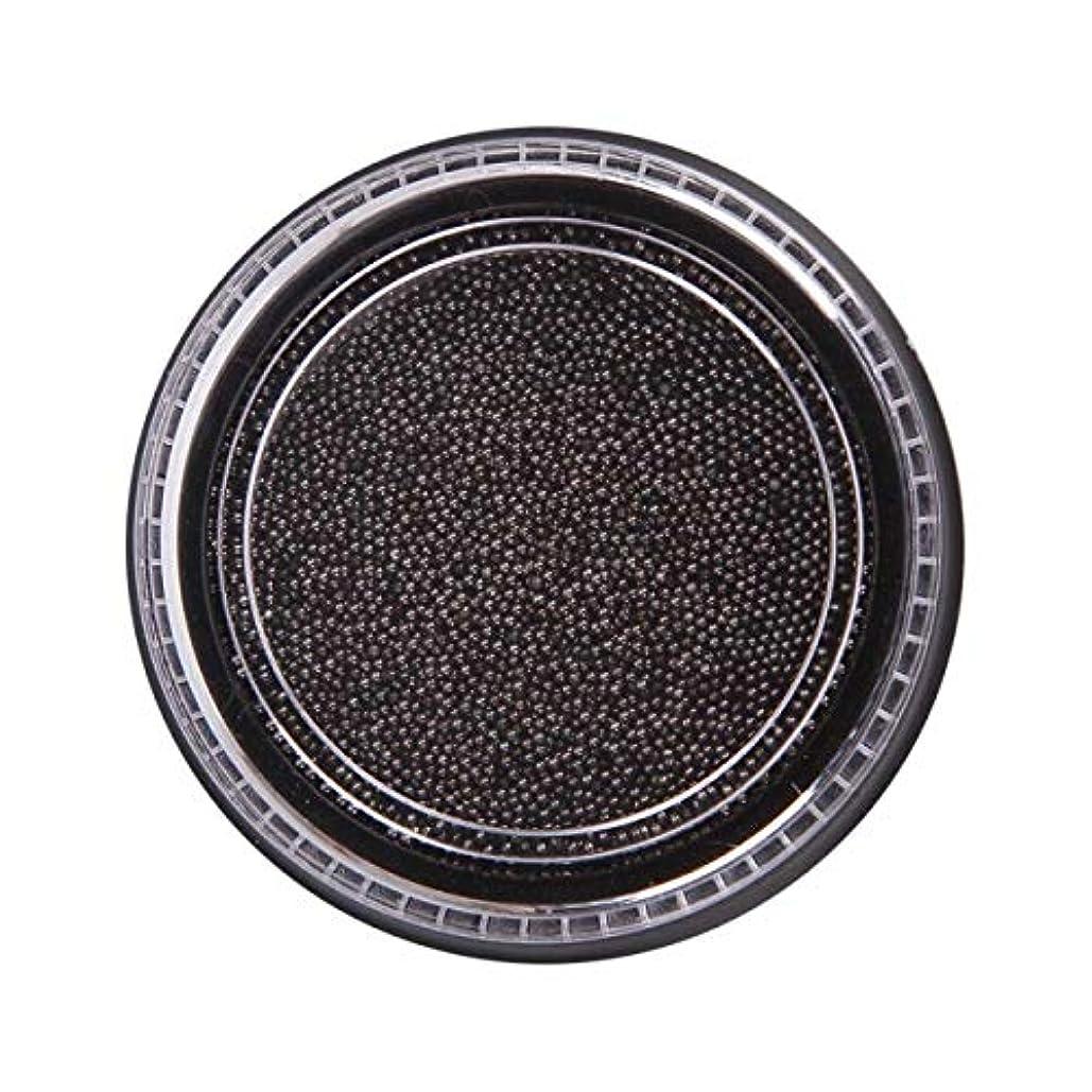 私深さ夏OU-Kunmlef 合理的な釘美しさ化粧ステンレス鋼ビーズ釘アート銀は、金キャビアDIY釘装飾を上げました(None Black Boxes-Black)