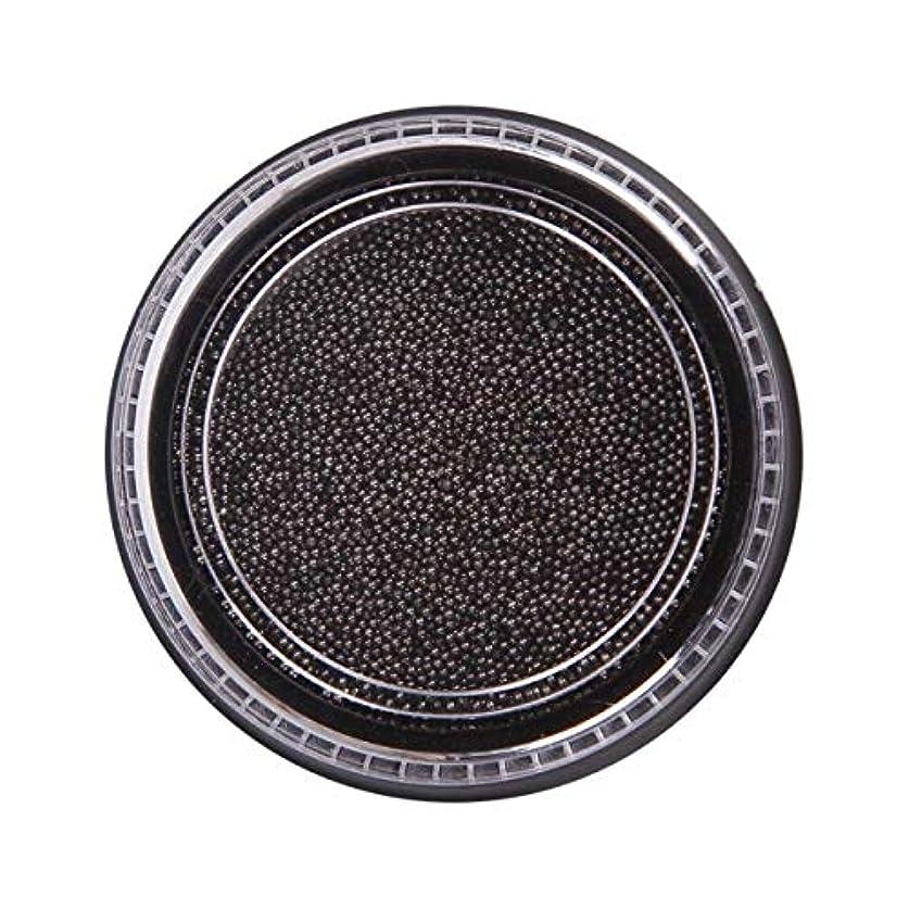 複雑和ほかにOU-Kunmlef 合理的な釘美しさ化粧ステンレス鋼ビーズ釘アート銀は、金キャビアDIY釘装飾を上げました(None Black Boxes-Black)