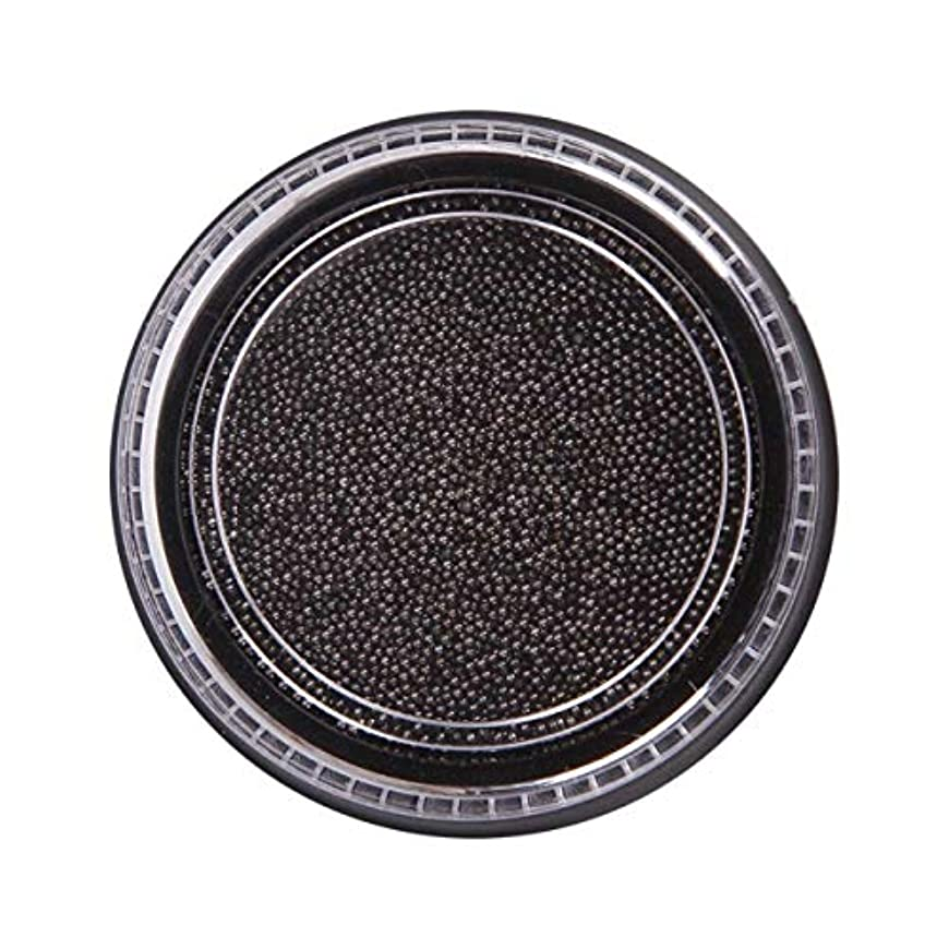 バレル経営者衝突コースOU-Kunmlef 合理的な釘美しさ化粧ステンレス鋼ビーズ釘アート銀は、金キャビアDIY釘装飾を上げました(None Black Boxes-Black)