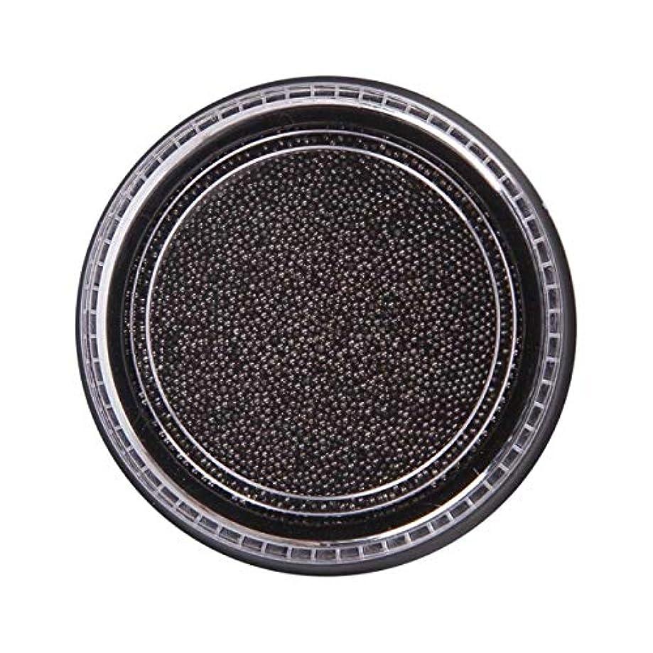 チキン決定するカスタムOU-Kunmlef 合理的な釘美しさ化粧ステンレス鋼ビーズ釘アート銀は、金キャビアDIY釘装飾を上げました(None Black Boxes-Black)