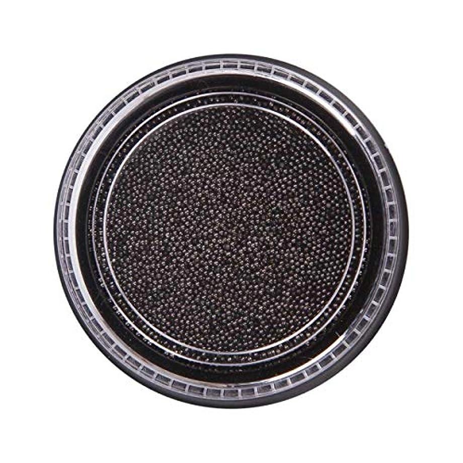 味付けギャンブル容器OU-Kunmlef 合理的な釘美しさ化粧ステンレス鋼ビーズ釘アート銀は、金キャビアDIY釘装飾を上げました(None Black Boxes-Black)