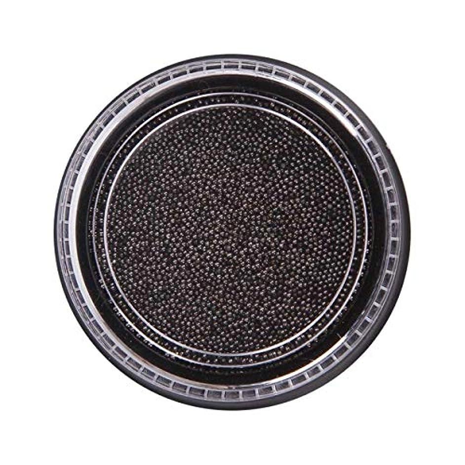 トライアスリート悲しみ余分なOU-Kunmlef 合理的な釘美しさ化粧ステンレス鋼ビーズ釘アート銀は、金キャビアDIY釘装飾を上げました(None Black Boxes-Black)