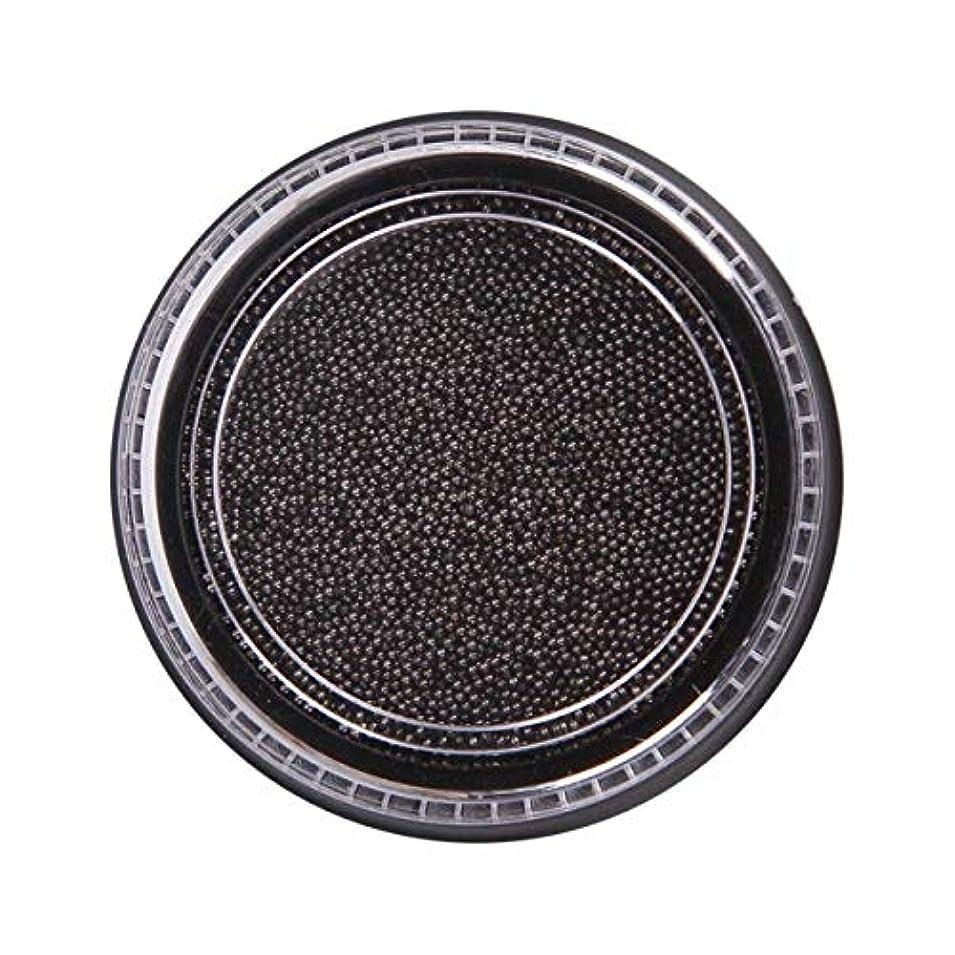 祈り引き潮眠りOU-Kunmlef 合理的な釘美しさ化粧ステンレス鋼ビーズ釘アート銀は、金キャビアDIY釘装飾を上げました(None Black Boxes-Black)