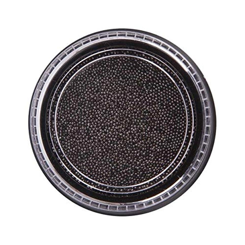 出血過言不変OU-Kunmlef 合理的な釘美しさ化粧ステンレス鋼ビーズ釘アート銀は、金キャビアDIY釘装飾を上げました(None Black Boxes-Black)