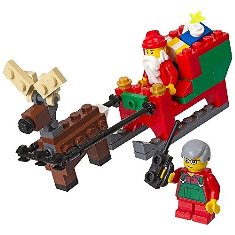 【ブロック-レゴショップ?クリックブリック限定】 40059 レゴ サンタのそりセット(サンタクロース、トナカイ、オペレーターのおじいさん) / LEGO Santa's Sleigh Set[ヘッダー付パッケージ]