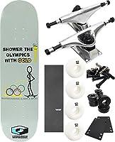 "ConsolidatedスケートボードシャワーOlympicsスケートボード8"" x 31.6"" Complete Skateboard–7項目のバンドル"