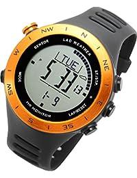 [LAD WEATHER]ハイスペック アウトドア腕時計 心拍/高度/気圧/温度/歩数/天気予測 デジタルコンパス 登山/トレッキング ドイツ製センサー搭載