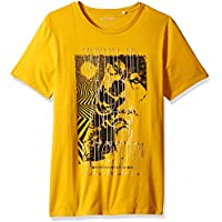 Guess Men's Short Sleeve Wild Wolves Crew Neck Tee
