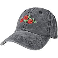 ZLYC Embroidered Cotton Baseball Cap Adjustable Strapback Hat for Mens Womens