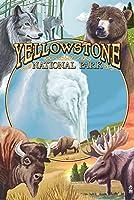 イエローストーン国立公園Wildlifeモンタージュ 12 x 18 Art Print LANT-31712-12x18