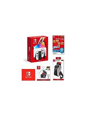 Nintendo Switch(有機ELモデル) Joy-Con(L)/(R) ホワイト+【任天堂ライセンス商品】Nin…