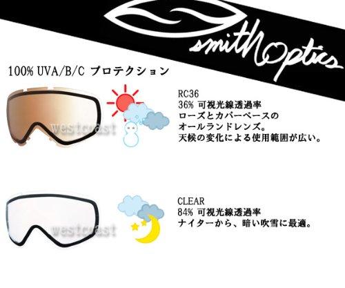 SMITH(スミス)  I/OX用 スタンダードレンズ CLEAR ゴーグル用スペアレンズ