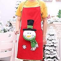 A69Qクリスマス ソフトエプロン キッチンエプロン クリスマス ディナーパーティー エプロン デコレーション キッチンエプロン クッキングエプロン 汚れにくい シワになりにくい 男女兼用 仕事用 保育士 カフェ 料理室 家庭用