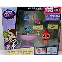 Littlest Pet Shop Bath Time Fun Set [2 Birds and Birdbath] by HASBO [並行輸入品]
