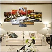 滝風景写真川水壁アートリビングルーム家の装飾キャンバス絵画hdプリントポスター35x50cmx2 35x70cmx2 35x100cmx1なしフレーム