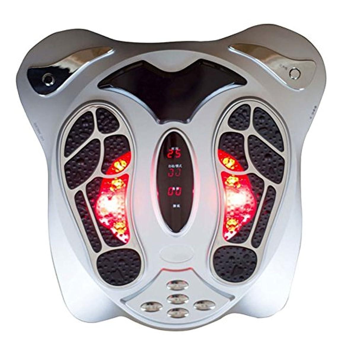 ポータブルストライド軸ヒート機能付き電動足マッサージ低周波電気刺激多段階設定血行マッサージ(マッサージベルト送付)