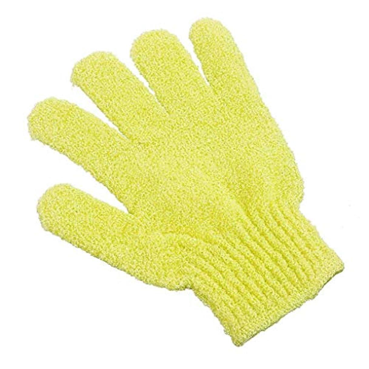 心配する貧しいラバArichops お風呂用手袋 ボディウォッシュ手袋 入浴用品 垢すり用グローブ 抗菌加工 角質除去 泡立ち 男女兼用 便利なループ付け