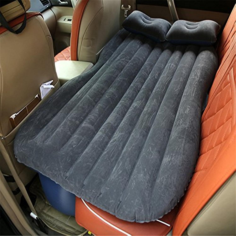 SUVカーインフレータブルマットレストラベルバックシートエアベッドキャンプリアシートスリーピングマットクッションカーショックベッドブラック
