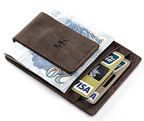 【いつもの財布に飽きたなら 牛革 マネークリップ】 財布 カードケース メン...