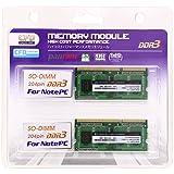 CFD販売  ノートPC用メモリ PC-10600(DDR3-1333) 4GB×2枚 204pin SO-DIMM (無期限保証)(Panramシリーズ) W3N1333PS-4G