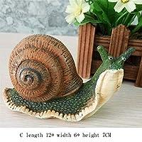 鋳鉄の庭の像 庭の装飾屋外耐候性 - 庭の装飾品彫像ジャングル現実のカタツムリ 屋外屋内装飾用 (色 : Snails, サイズ : C)