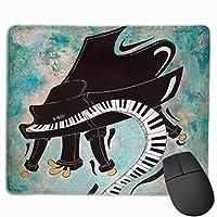 クールピアノ音楽キーボード絵画 マウスパッド 25×30cm ノンスリップ 防水 ゲーミング おしゃれ マウスの精密度を上がる