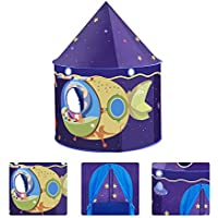 funfunman Kids Castle Play Tent with Glow in the Dark星、convinientllyの折り曲げto a携帯ケース、子供を楽しみ、この折りたたみ式Pop Upピンク再生テント/ House Toy forインドア&アウトドア使用