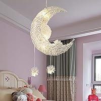 かわいい子供たちは天井ランプの男の子の女の子の五five星の寝室ランプ漫画の星の月の勉強ランプを導いた