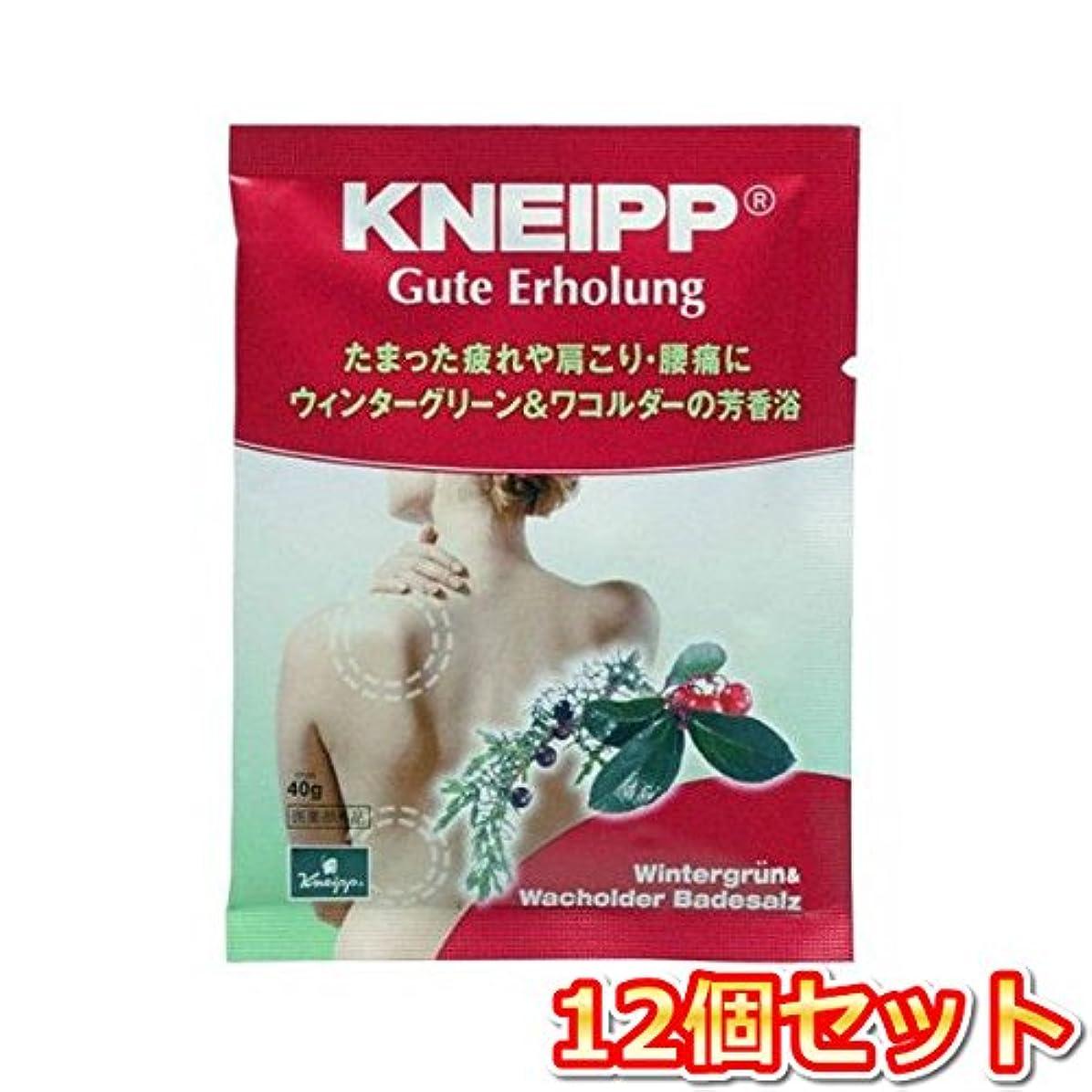 目の前の最少好色なクナイプ?ジャパン クナイプグーテエアホールング ウィンターグリーン&ワコルダー 40g(医薬部外品) 12個セット