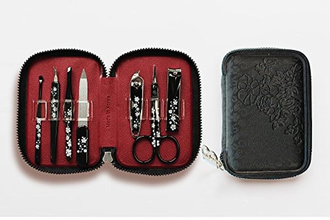 究極の憤る精巧なBELL Manicure Sets BM-990A ポータブル爪の管理セット 爪切りセット 高品質のネイルケアセット花モチーフのイラストデザイン Portable Nail Clippers Nail Care Set