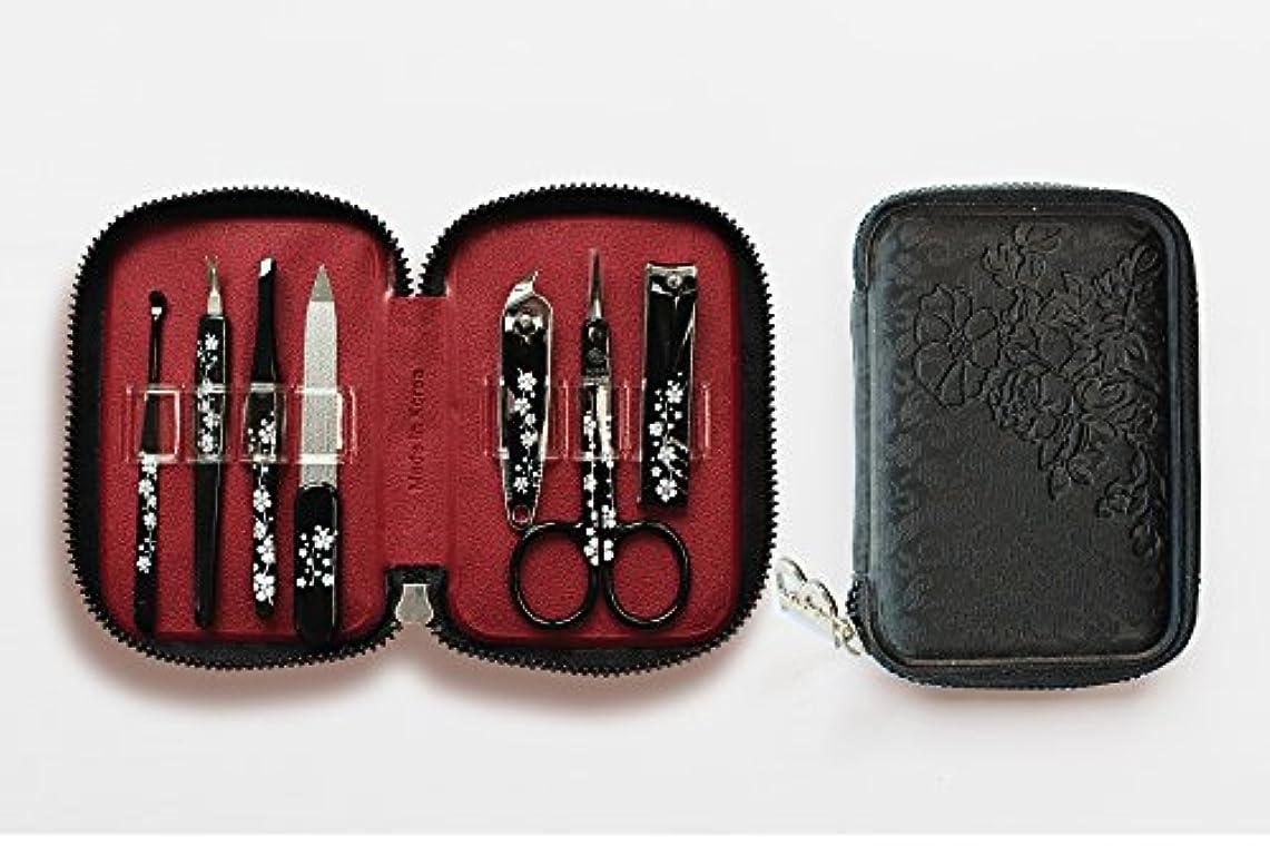 誰のデザイナー順応性のあるBELL Manicure Sets BM-990A ポータブル爪の管理セット 爪切りセット 高品質のネイルケアセット花モチーフのイラストデザイン Portable Nail Clippers Nail Care Set