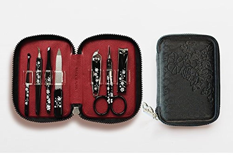 勝者蘇生する平凡BELL Manicure Sets BM-990A ポータブル爪の管理セット 爪切りセット 高品質のネイルケアセット花モチーフのイラストデザイン Portable Nail Clippers Nail Care Set