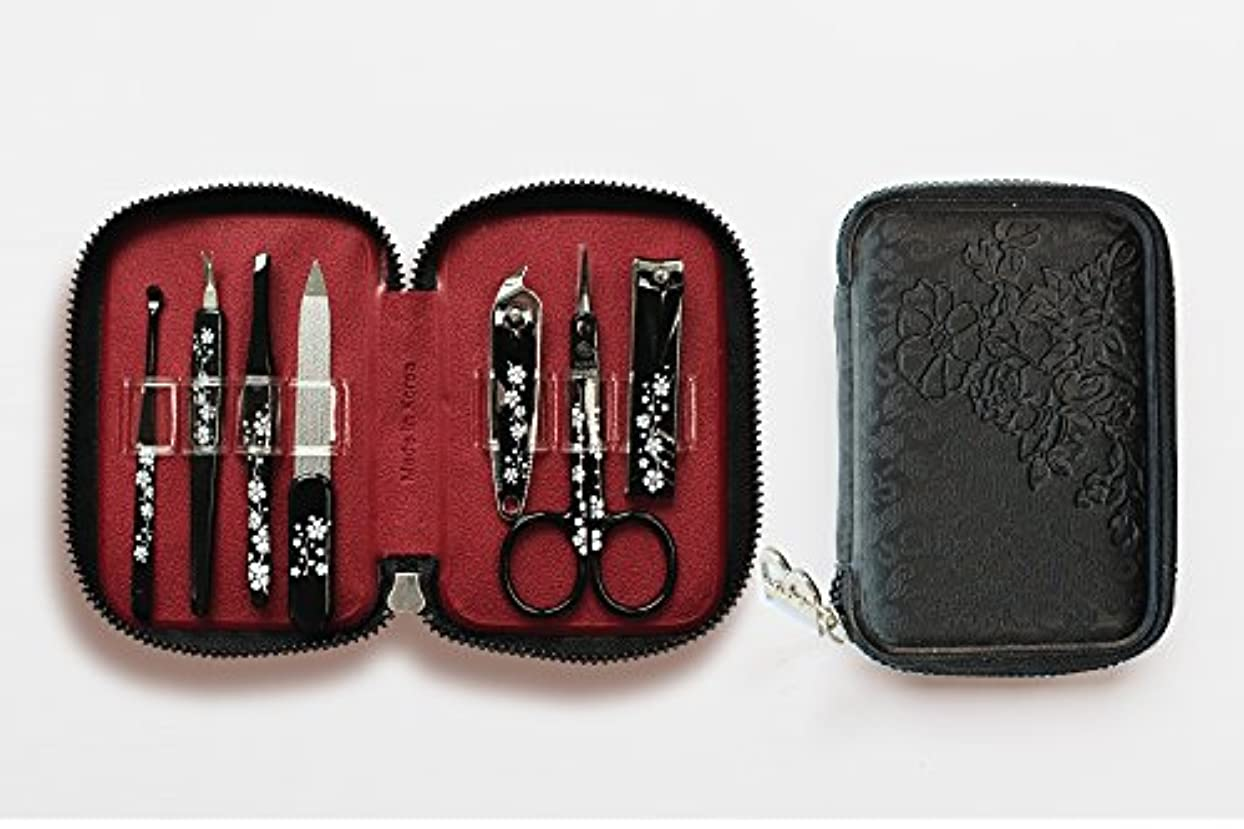 ホステル敬意を表する同級生BELL Manicure Sets BM-990A ポータブル爪の管理セット 爪切りセット 高品質のネイルケアセット花モチーフのイラストデザイン Portable Nail Clippers Nail Care Set