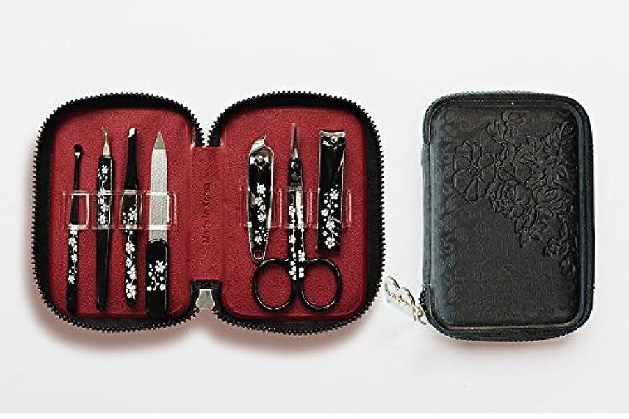 こするブランデー霜BELL Manicure Sets BM-990A ポータブル爪の管理セット 爪切りセット 高品質のネイルケアセット花モチーフのイラストデザイン Portable Nail Clippers Nail Care Set