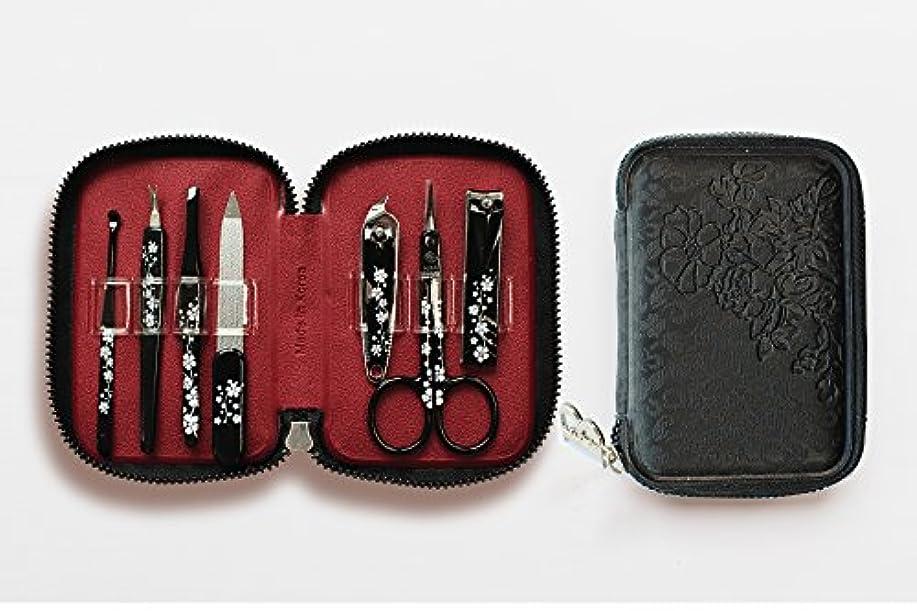 コウモリ感嘆フェローシップBELL Manicure Sets BM-990A ポータブル爪の管理セット 爪切りセット 高品質のネイルケアセット花モチーフのイラストデザイン Portable Nail Clippers Nail Care Set