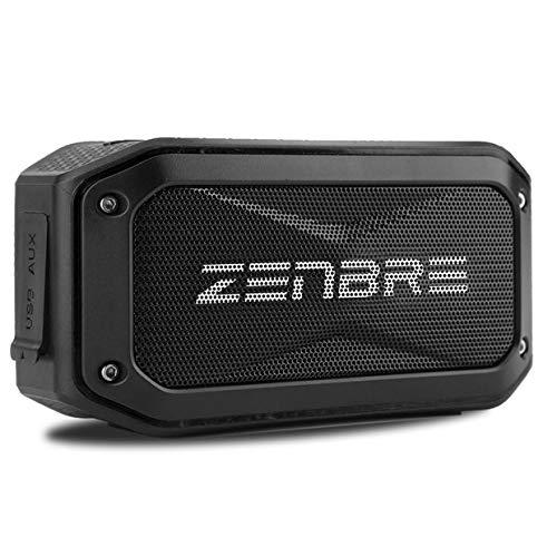 Bluetooth スピーカー、ZENBRE D5 、IPX7防水スピーカー/40時間連続再生【ポータブル スピーカー、アウトドア、お風呂対応、Bluetooth4.1、6Wウーファーと増強リゾネーター】