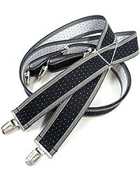 J Bridge Western 日本縫製 35mm X型 サスペンダー ゲバルト GEVAERT ライン ドット 水玉 ブレイシーズ ズボン吊り 吊りバンド 4117-6009