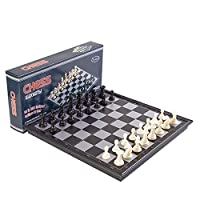 Magnetic Travel Chess Set with Folding Chess Board for Adults Kids%カンマ% Portable Traditional Board Game - 9.6%ダブルクォーテ% x 9.6%ダブルクォーテ% [並行輸入品]