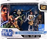 スターウォーズ Star Wars Clone Wars Animated Exclusive Action Figure フィギュア 人形 3-Pack Commemorative DVD Collection 1 (Obi-Wan Kenobi オビワンケノービ, General Grievous and Battle Droid ドロイド) [並行輸入品]