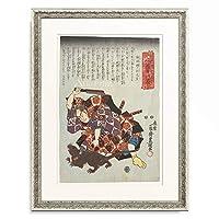 歌川 国貞 Utagawa Kunisada 「Matsugae Hachinosuke as Mitsushige and Nikki Danjo as a rat (fifth act from the Kabuki Drama Valuable Incense and Blossoms of the Autumn in Sendai). 1849」 額装アート作品
