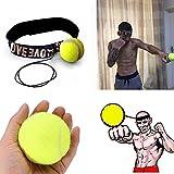 パンチングボール HoSam 軽量 格闘技 練習用ボール ファイト・ボール ヘッドバンド付き 反射速度 トレーニング ボクシンググッズ パンチ 訓練 ストレス発散 (イエロー)