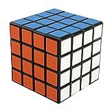 HAKATA スピードキューブ 立体パズル キューブ ポップ防止 立体キューブ スムーズ回転キューブ 競技用 ストレス解消 パズル キューブ (黒素体) (4x4x4四階)