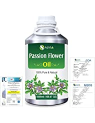 Passion Flower (Passiflora) Natural Pure Undiluted Uncut Carrier Oil 5000ml/169 fl.oz.