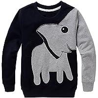 Little Hand Boys Jumpers Elephant Sweatshirt Pullover Long Sleeve T-Shirt For Kids