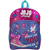 JoJo Siwa Bow Backpack Sholder Bag Denim Large Poket Print Back Pack Unicorn Bows and Glitter Details Perfect School and Holiday Bag